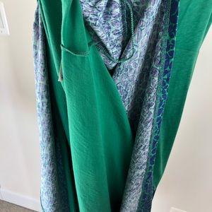 Boden Dresses - Boden Rosamund Jersey Dress Green Blue WW266 14